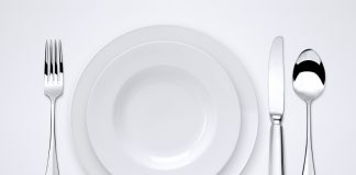 put contrast in color of plate and food